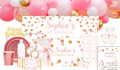 Confetti In Pink And Gold Personalised Party Pack
