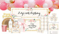 Spring Floral Birthday Personalised Party Pack