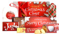 Actual contents of Little Box Of Christmas Cheer Personalised Hamper (With Lights)