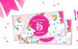 Unicorn Trio Personalised Chocolate Bar