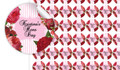Roses & Stripes Pink Hens Night Personalised 25mm Labels (Set Of 70)