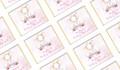 Sitting Elephant Pink Baby Shower Personalised Mini Chocolates