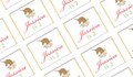Golden Unicorn Birthday Personalised Mini Chocolates