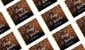 Wood Bunting Wedding Personalised Mini Chocolates