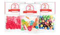Number In Red Birthday Personalised Lolly Bag With Topper