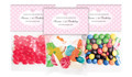 Polkadot Pink Birthday Personalised Lolly Bag With Topper