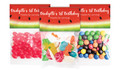 Watermelon Party Birthday Personalised Lolly Bag With Topper