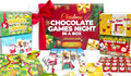 Christmas Chocolate Games Night In A Box Board Game Hamper (Incl. 4 Games)