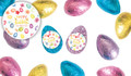 Watercolour Eggs Personalised Chocolate Half Easter Eggs