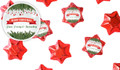 Branches And Banner Christmas Personalised Chocolate Stars
