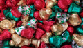 Close up of festive mix of chocolate bells