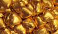 Gold Foil Covered Chocolate Hearts