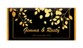 Gold Leaves Personalised Wedding Chocolate Bars