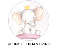 Sitting Elephant Pink Baby Shower Favours