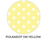 Polkadot Yellow Custom Baby Shower Favours