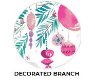 Decorated Branch Theme Custom Christmas Favours