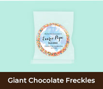 Custom Confirmation Giant Chocolate Freckles