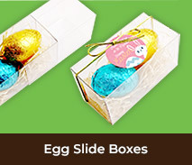 Easter Egg Slide Boxes With Bow And Swing Tag