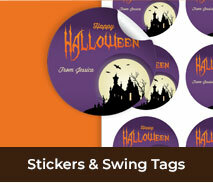 Custom Stickers And Swing Tags For Halloween