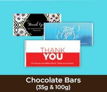 Thank You Chocolate Bars