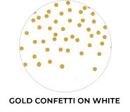Gold Confetti On White Wedding Favours