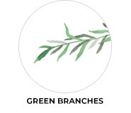 Green Branches Theme Wedding Favours