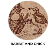 Rabbit And Chick Personalised Easter Chocolates