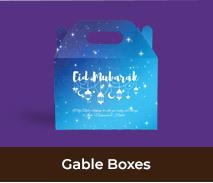 Personalised Eib Mubarak Gable Favour Boxes