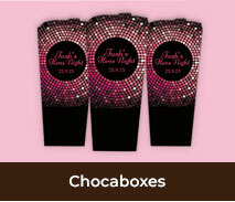 Personalised Chocabox Favours For Hens Parties