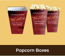 Personalised Popcorn Boxes For Anniversaries
