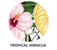 Tropical Hibiscus Wedding Theme Favours