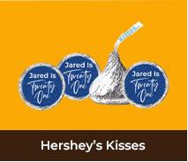 Personalised Hersheys Kisses For Adult Parties
