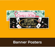 Adult Birthday Personalised Party Banners