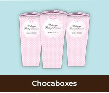 Personalised Chocaboxes For Birth Announcements