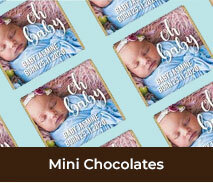 Personalised Birth Announcement Mini Chocolates