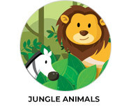 Jungle Animals Birthday Party Favours