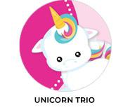 Unicorn Trio Personalised Birthday Party Favours