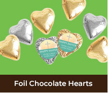 Personalised Foil Chocolate Hearts For Easter