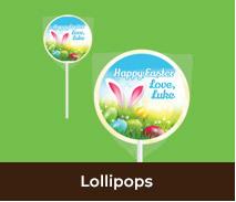Personalised Easter Lollipops