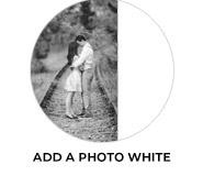 Add A Photo - White Theme Wedding Favours