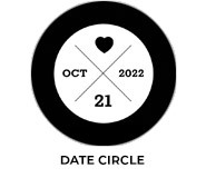 Date Circle Wedding Theme Favours
