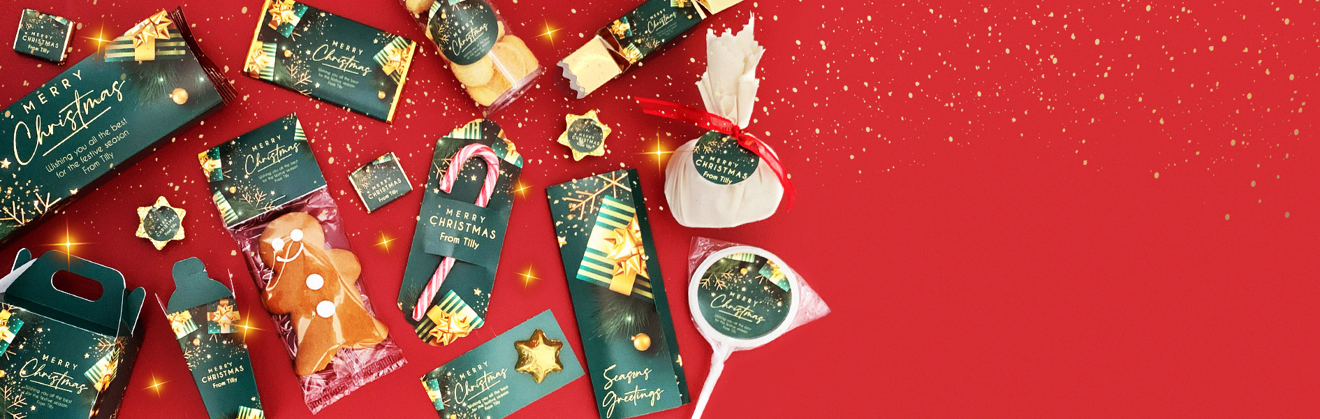 Personalised Christmas Favours, Chocolates And Hampers