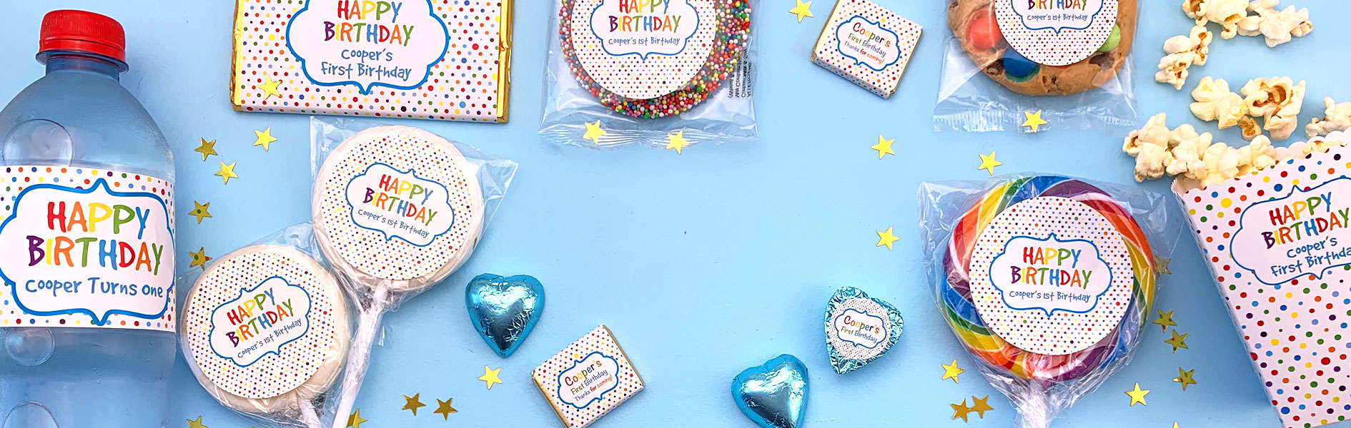 Personalised Chocolates And Decorations For Kids Birthday Parties