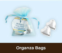 Organza Bags And Hearts For First Holy Communions