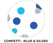 Confetti In Blue And Silver Birthday Favours