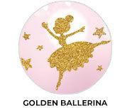 Golden Ballerina Theme Birthday Favours