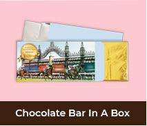 Custom Spring Racing Carnival Chocolate Bar Boxes