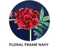 Floral Frame Navy Wedding Favours