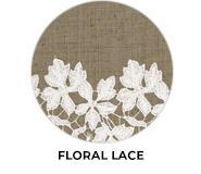 Floral Lace Theme Wedding Favours
