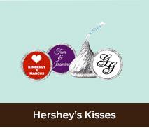 Personalised Hershey Kisses For Weddings